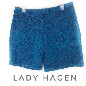 Lady Hagen Shorts - Lady Hagen Paradise Found Zebra Golf Shorts